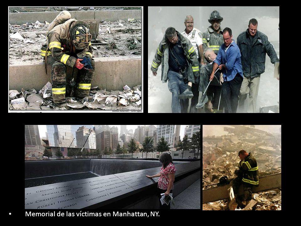 Memorial de las víctimas en Manhattan, NY.