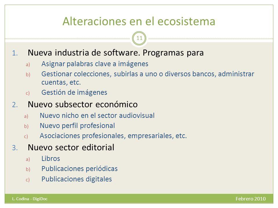 Alteraciones en el ecosistema