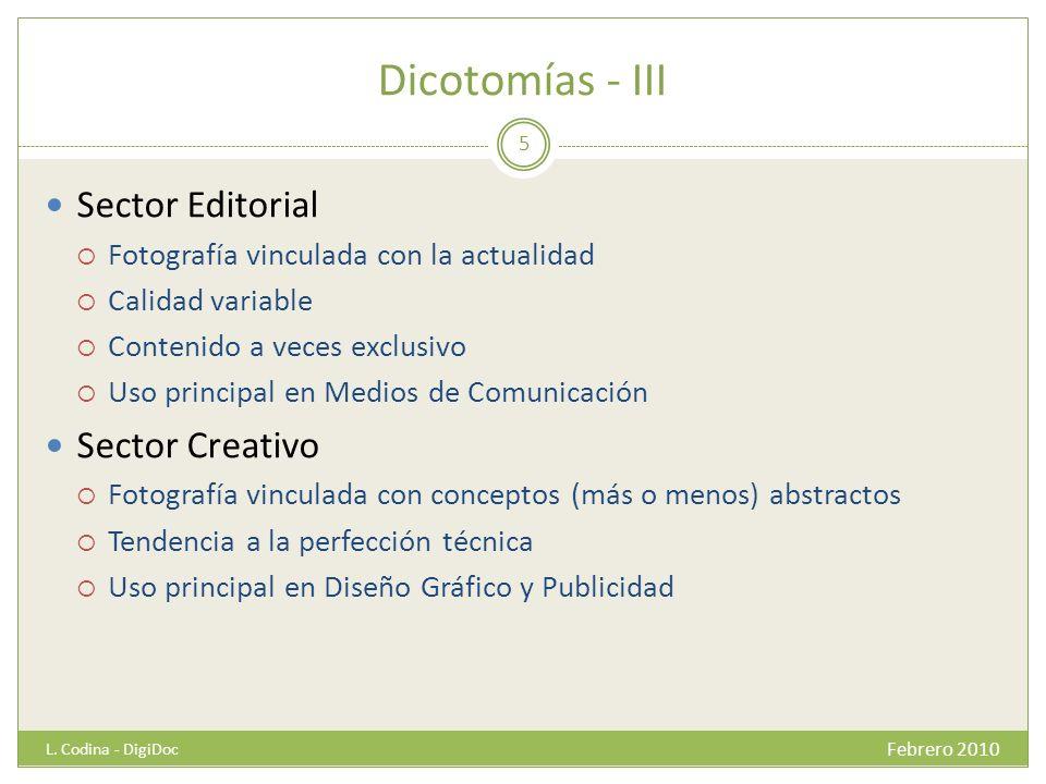 Dicotomías - III Sector Editorial Sector Creativo