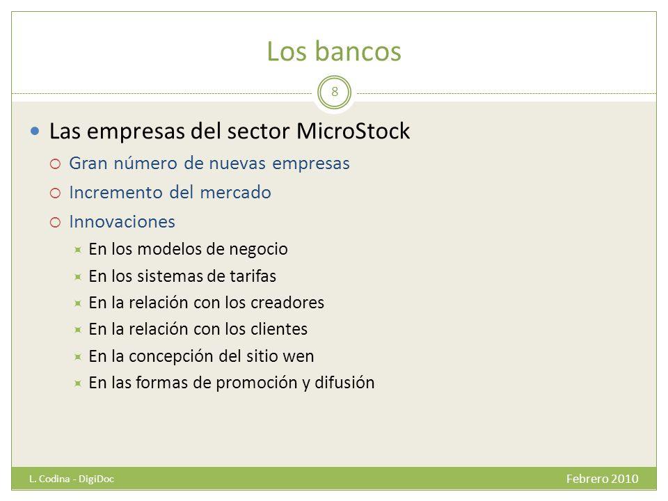 Los bancos Las empresas del sector MicroStock