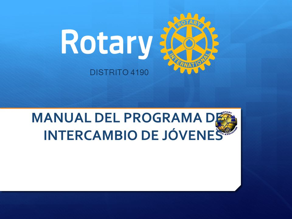 MANUAL DEL PROGRAMA DE INTERCAMBIO DE JÓVENES