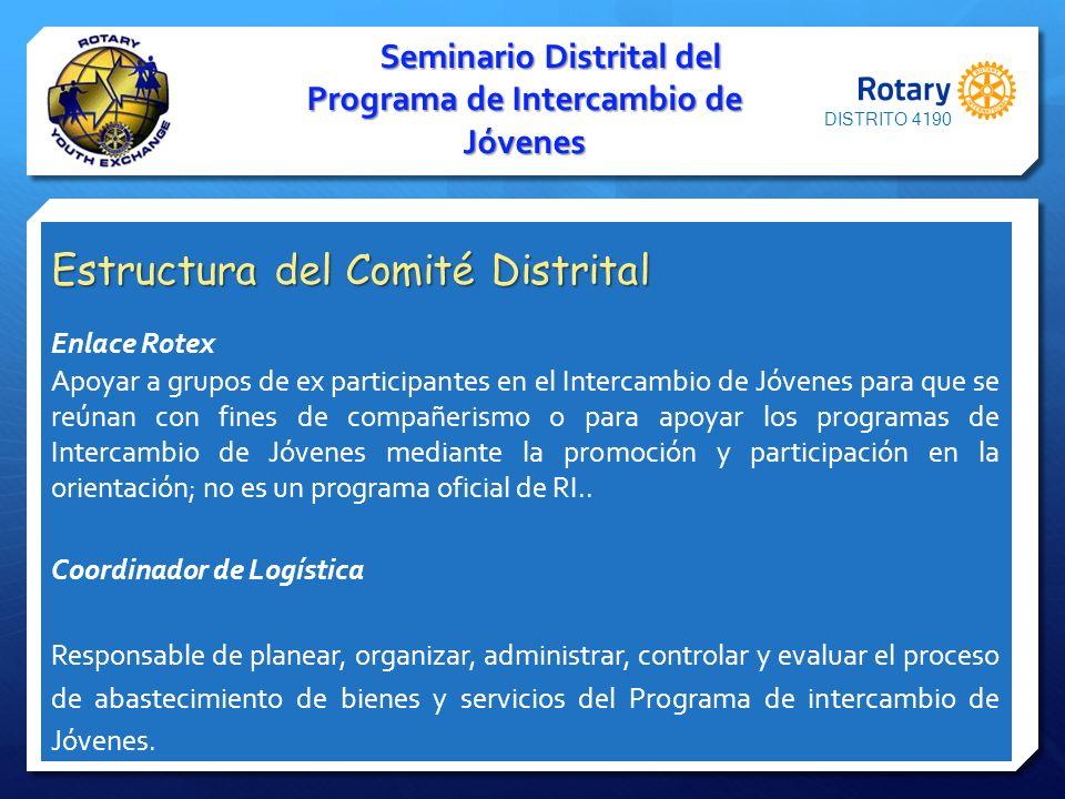 Seminario Distrital del Programa de Intercambio de Jóvenes