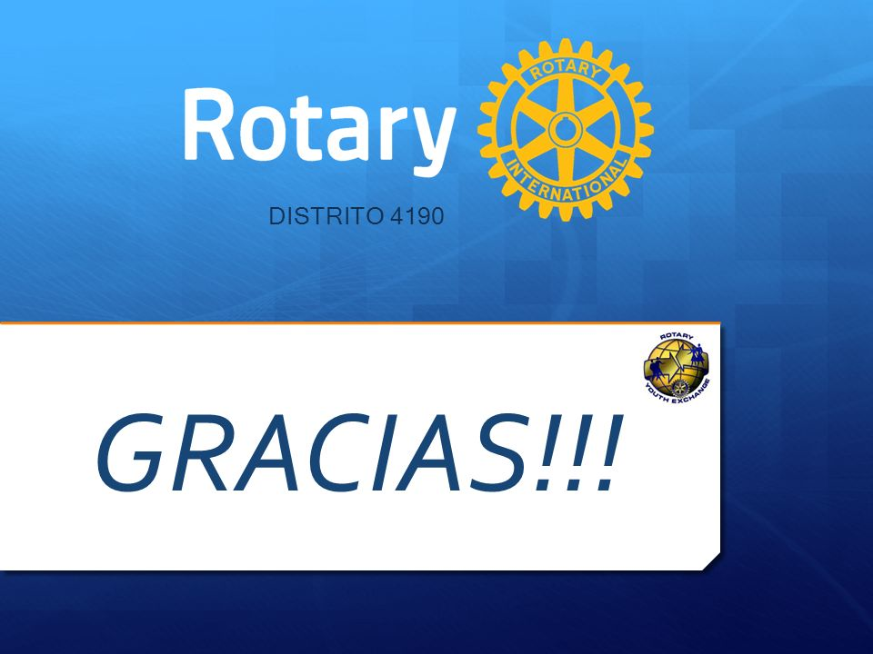 DISTRITO 4190 GRACIAS!!! Sigue Coffee Break