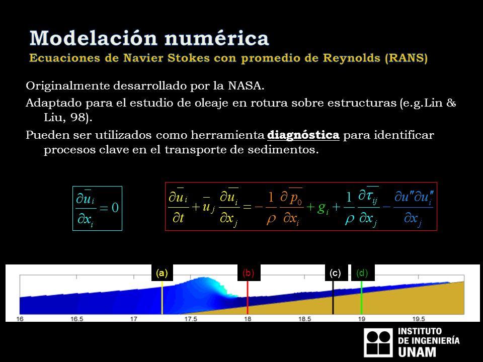 Modelación numérica Ecuaciones de Navier Stokes con promedio de Reynolds (RANS)