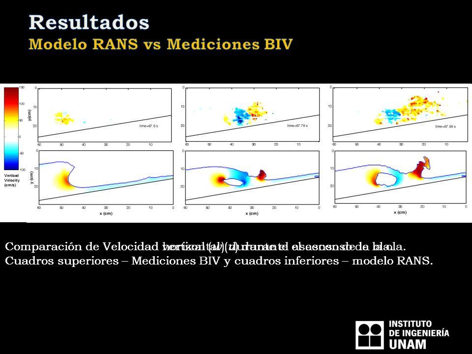 Resultados Modelo RANS vs Mediciones BIV