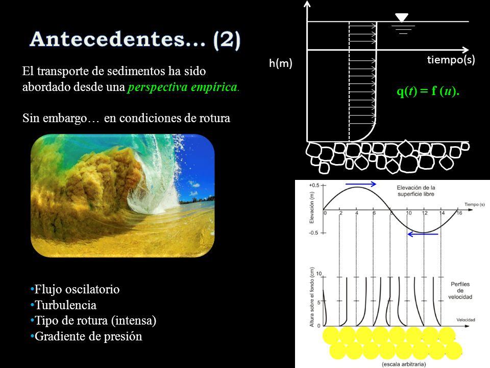 Antecedentes… (2) q(t) = f (u).