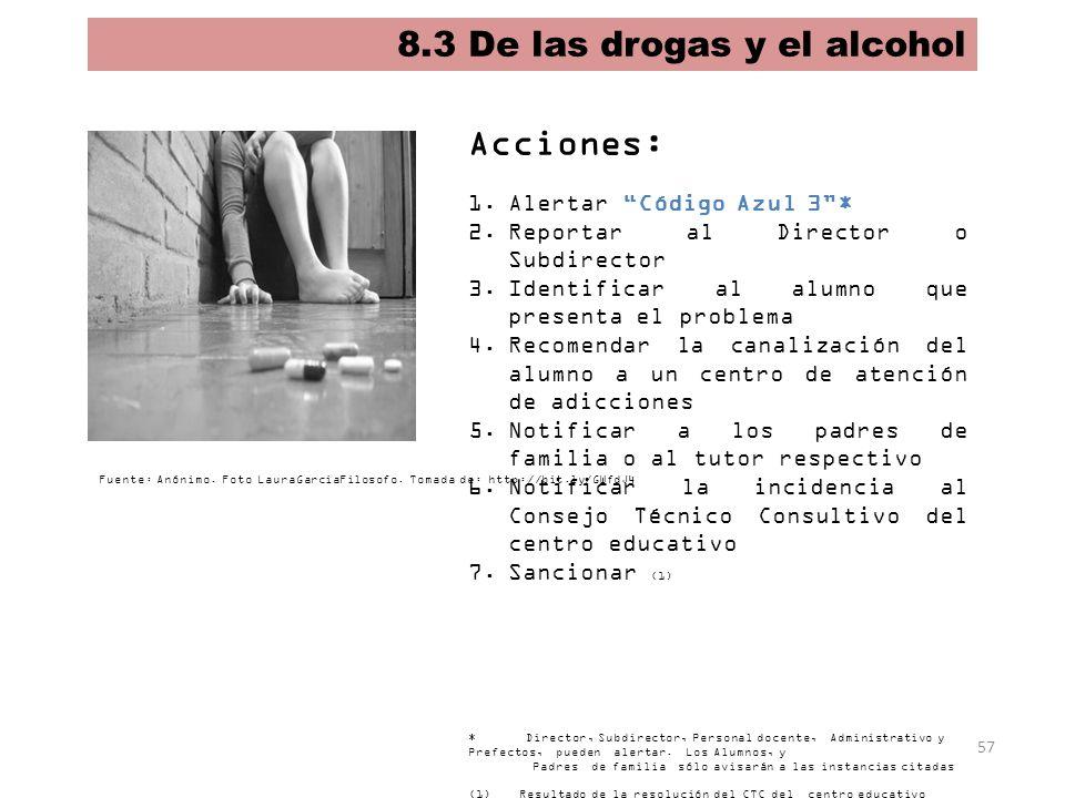 8.3 De las drogas y el alcohol
