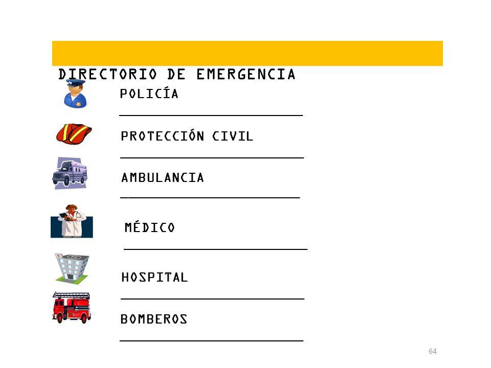DIRECTORIO DE EMERGENCIA