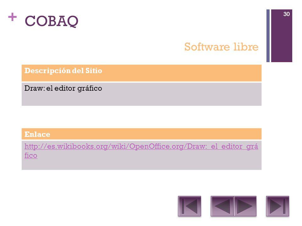 COBAQ Software libre Descripción del Sitio Draw: el editor gráfico
