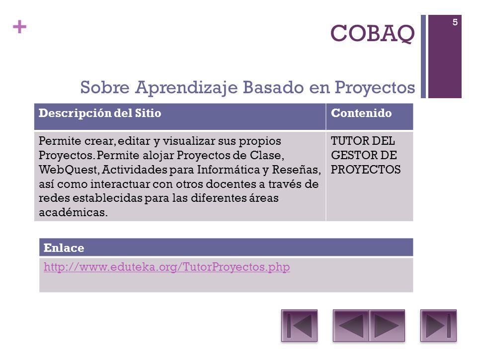 COBAQ Sobre Aprendizaje Basado en Proyectos