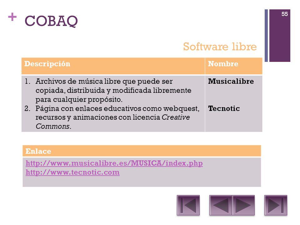 COBAQ Software libre Descripción Nombre