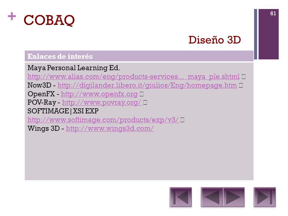 COBAQ Diseño 3D Enlaces de interés Maya Personal Learning Ed.
