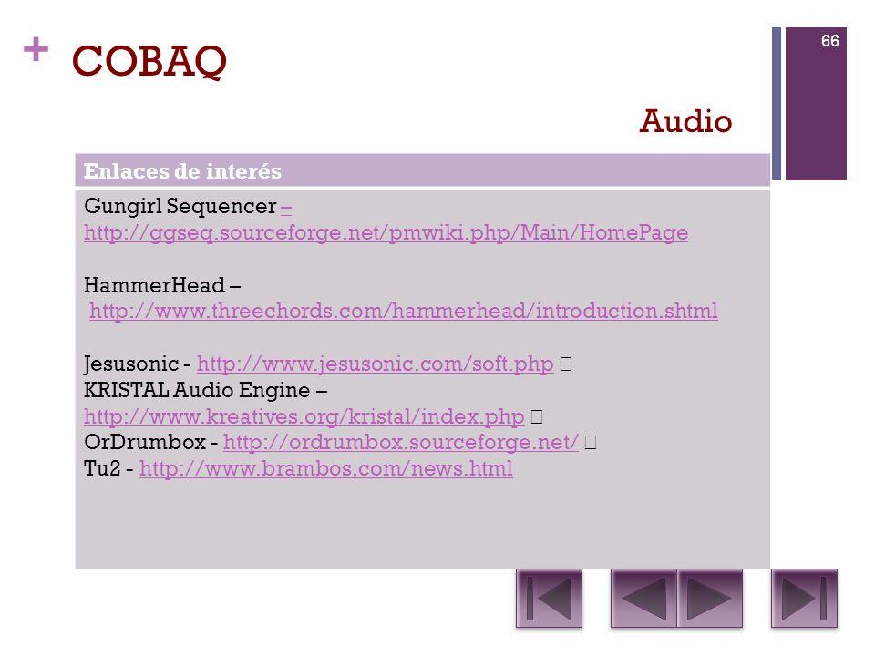 COBAQ Audio Enlaces de interés Gungirl Sequencer –