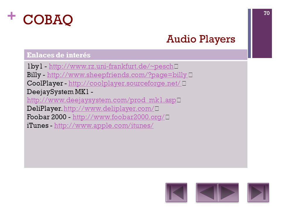 COBAQ Audio Players Enlaces de interés