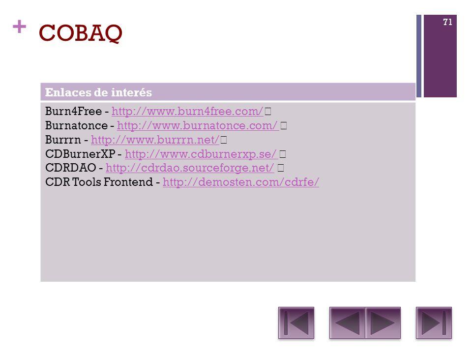 COBAQ Enlaces de interés Burn4Free - http://www.burn4free.com/