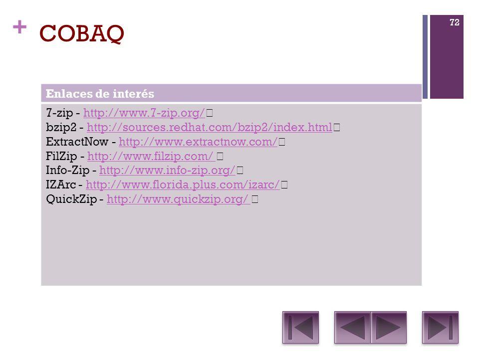 COBAQ Enlaces de interés 7-zip - http://www.7-zip.org/