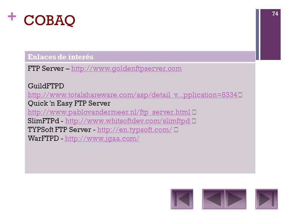 COBAQ Enlaces de interés FTP Server – http://www.goldenftpserver.com