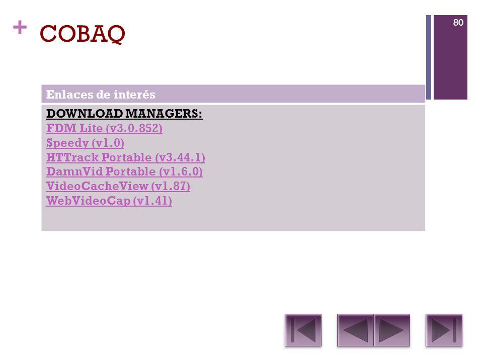 COBAQ Enlaces de interés DOWNLOAD MANAGERS: FDM Lite (v3.0.852)