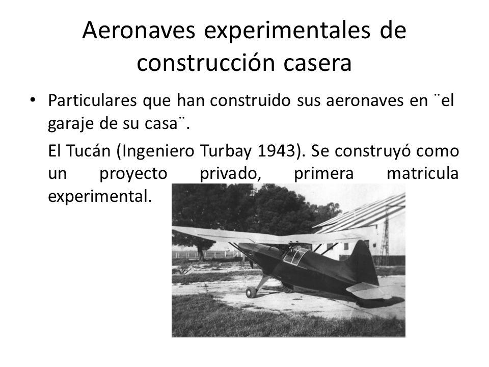 Aeronaves experimentales de construcción casera
