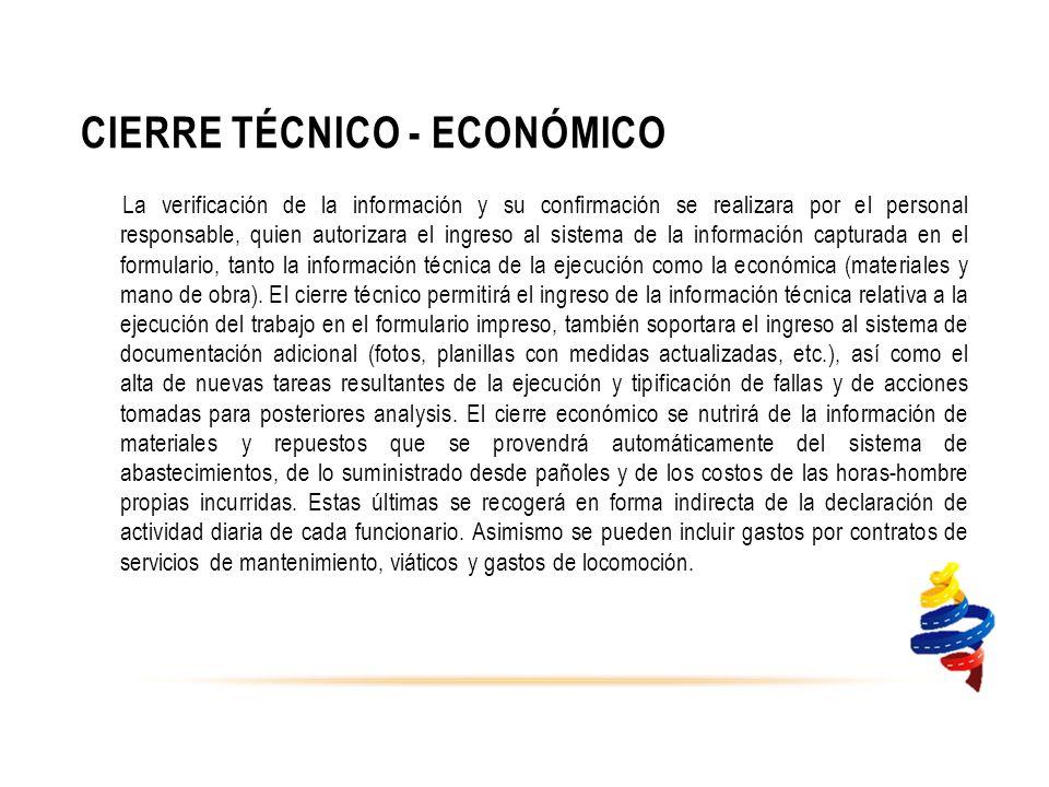 Cierre Técnico - Económico