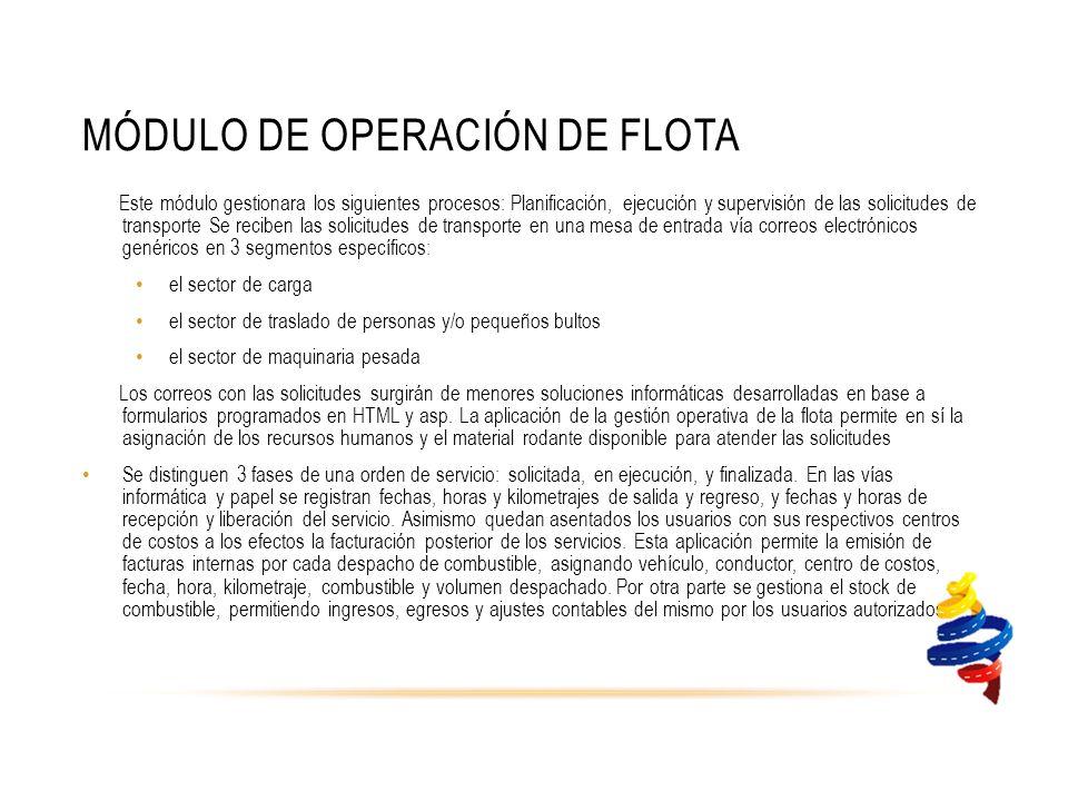 Módulo de Operación de Flota
