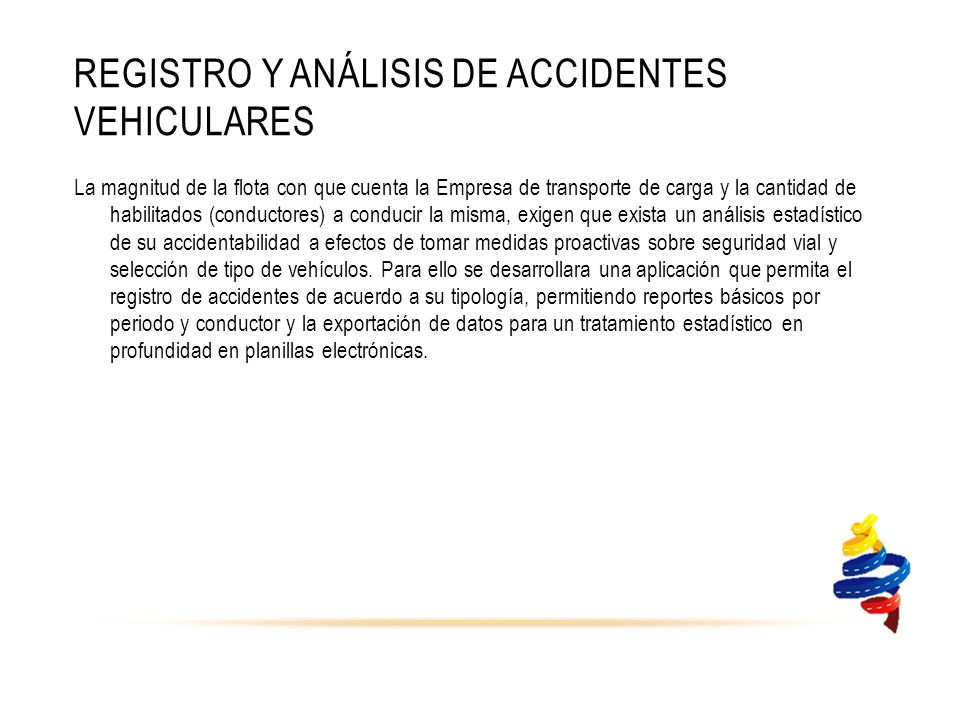Registro y análisis de accidentes vehiculares