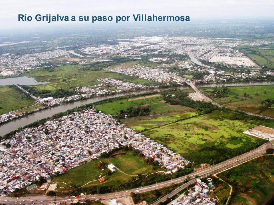 Río Grijalva a su paso por Villahermosa