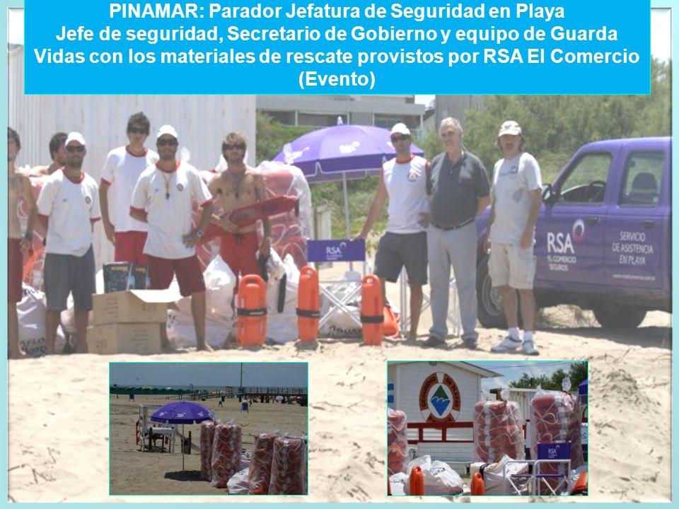 PINAMAR: Parador Jefatura de Seguridad en Playa
