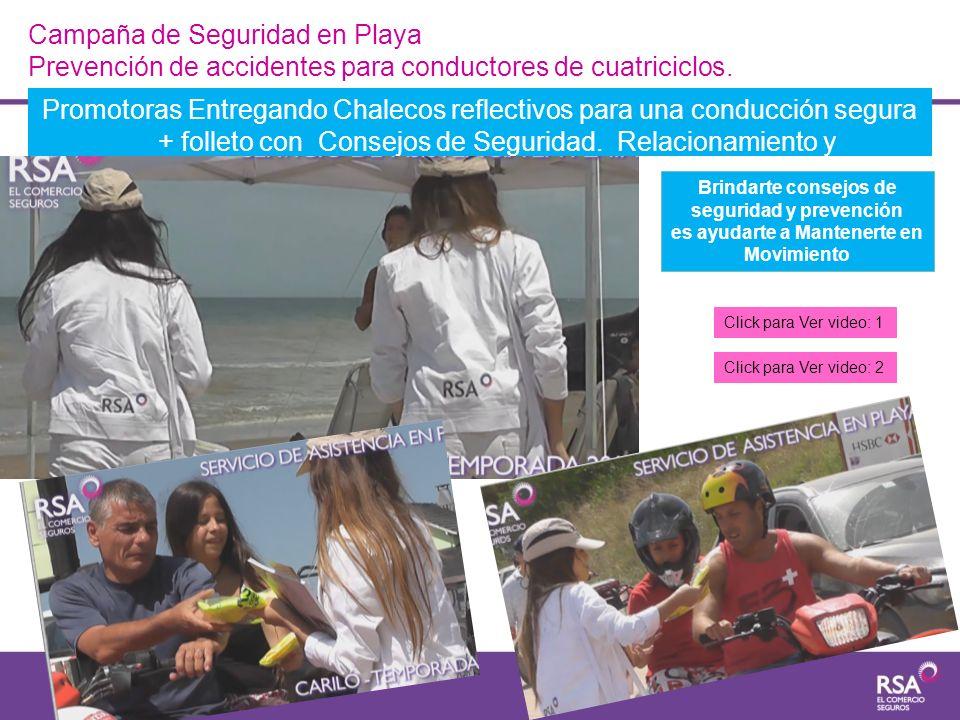Campaña de Seguridad en Playa Prevención de accidentes para conductores de cuatriciclos.
