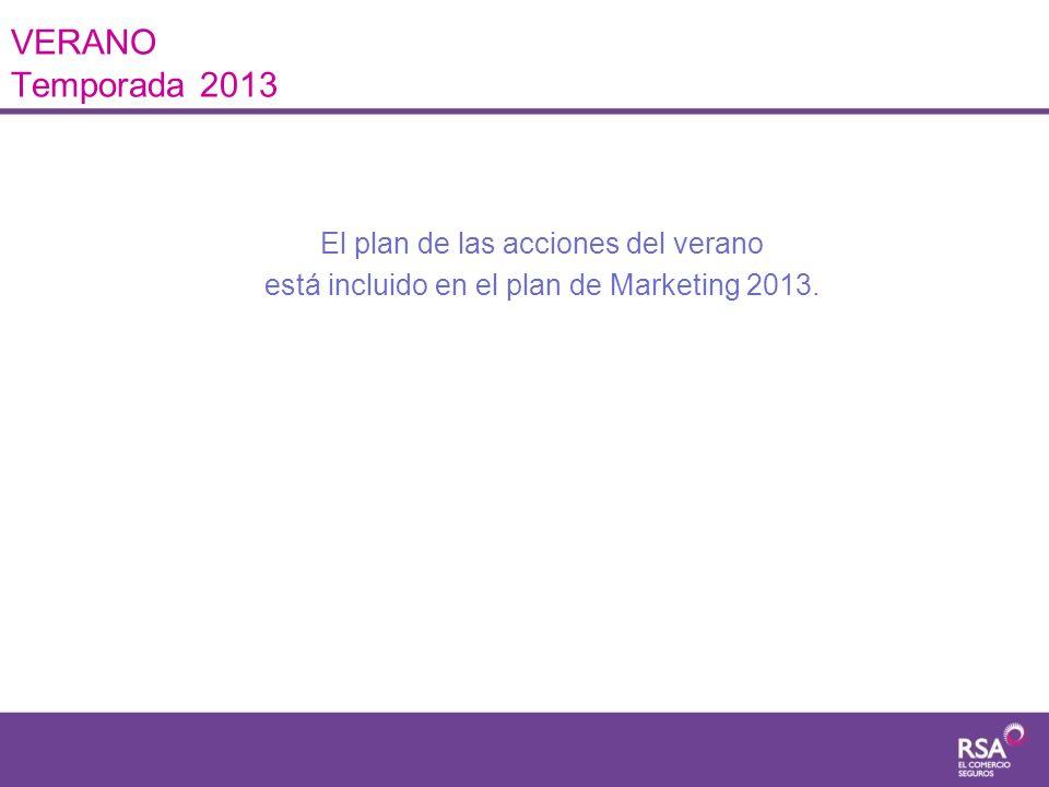 VERANO Temporada 2013 El plan de las acciones del verano