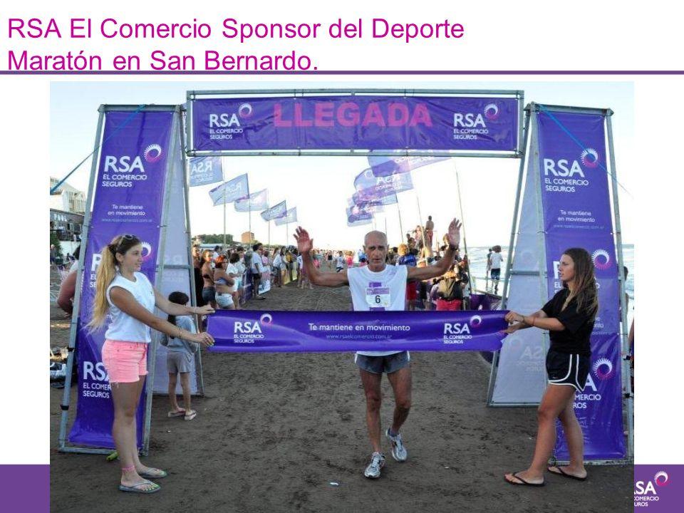 RSA El Comercio Sponsor del Deporte Maratón en San Bernardo.
