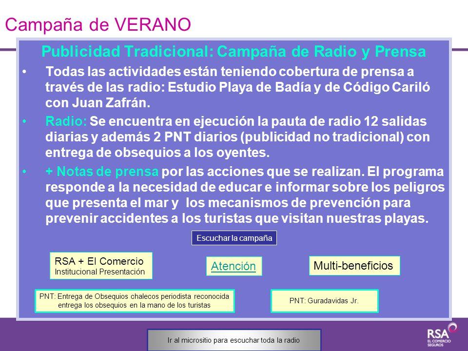 Publicidad Tradicional: Campaña de Radio y Prensa