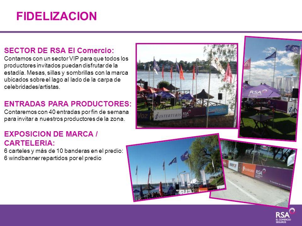 FIDELIZACION SECTOR DE RSA El Comercio: ENTRADAS PARA PRODUCTORES: