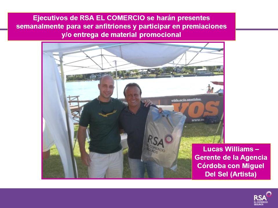Ejecutivos de RSA EL COMERCIO se harán presentes semanalmente para ser anfitriones y participar en premiaciones y/o entrega de material promocional