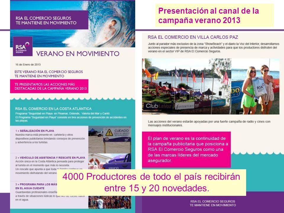Presentación al canal de la campaña verano 2013