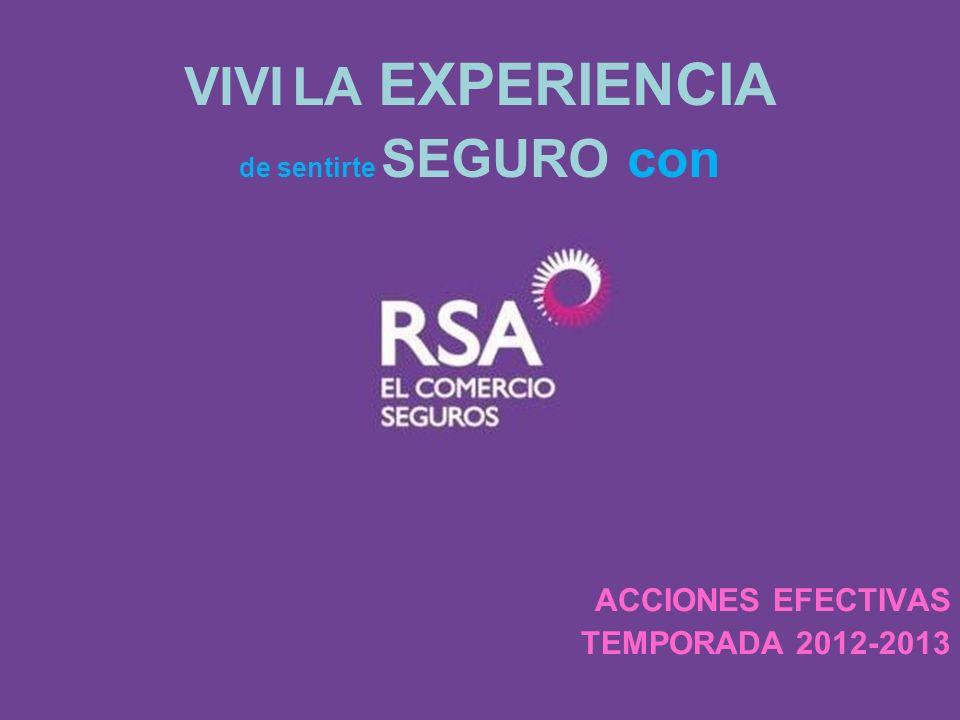 VIVI LA EXPERIENCIA ACCIONES EFECTIVAS TEMPORADA 2012-2013