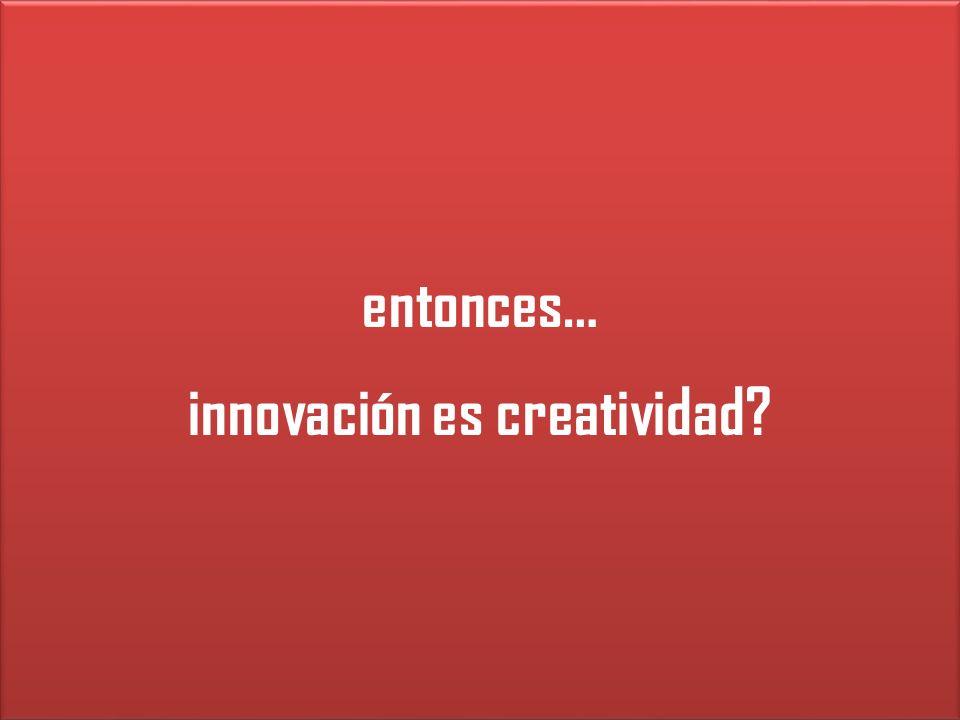 innovación es creatividad