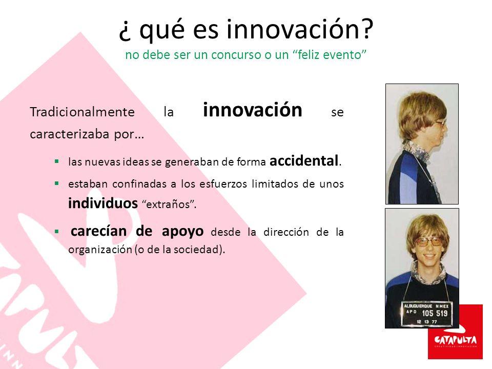 ¿ qué es innovación no debe ser un concurso o un feliz evento