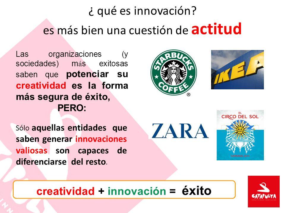 ¿ qué es innovación es más bien una cuestión de actitud