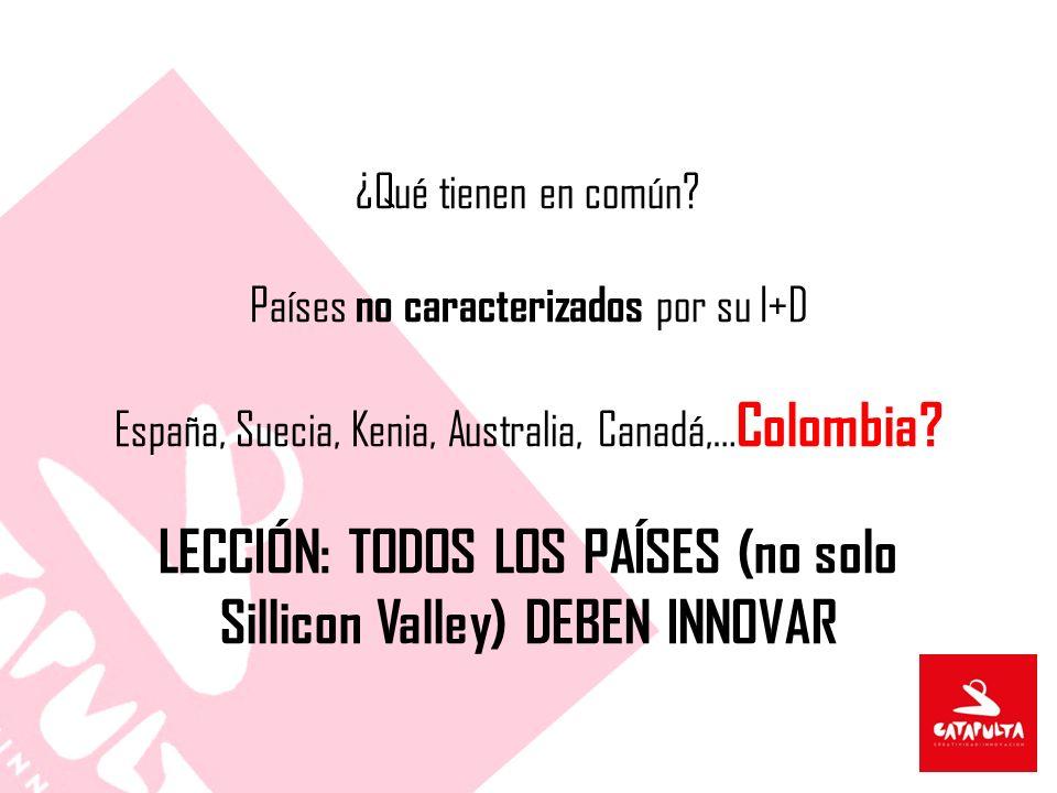 LECCIÓN: TODOS LOS PAÍSES (no solo Sillicon Valley) DEBEN INNOVAR