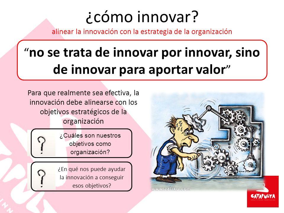 ¿cómo innovar alinear la innovación con la estrategia de la organización