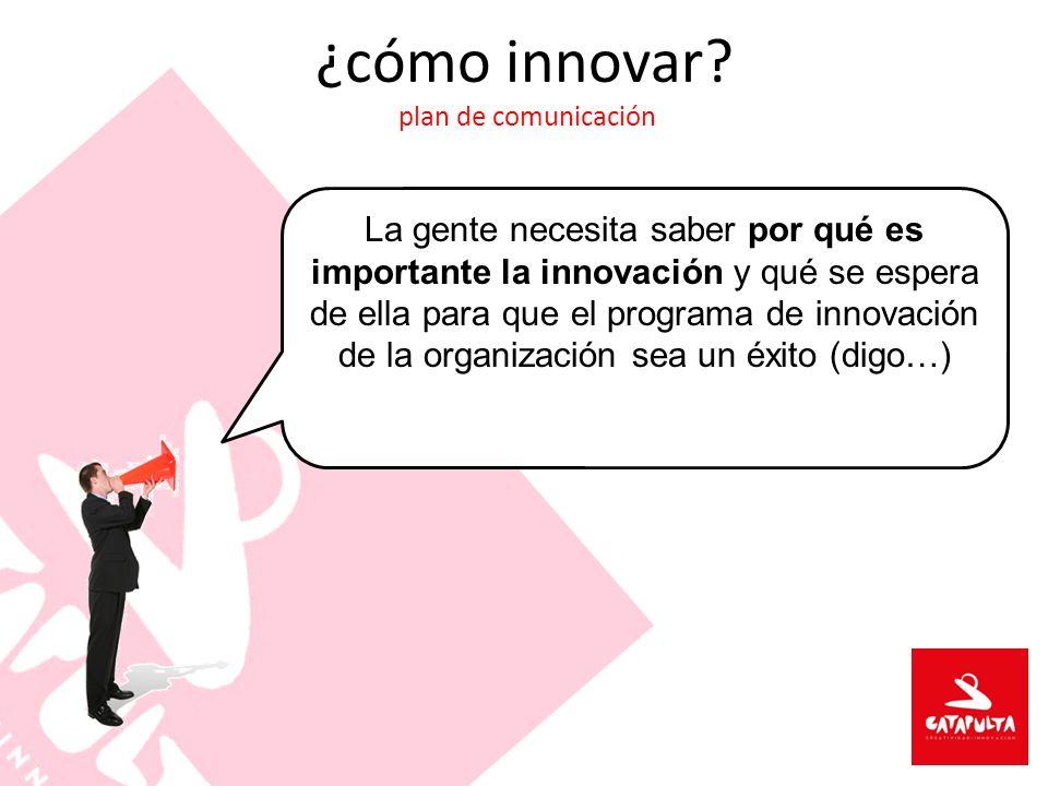 ¿cómo innovar plan de comunicación