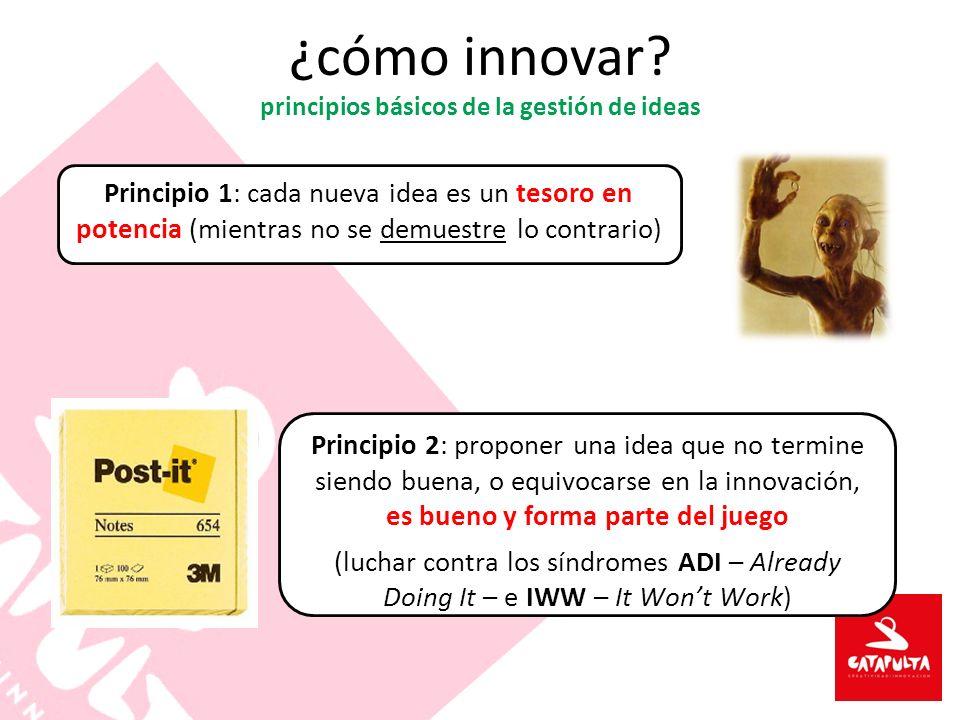 ¿cómo innovar principios básicos de la gestión de ideas