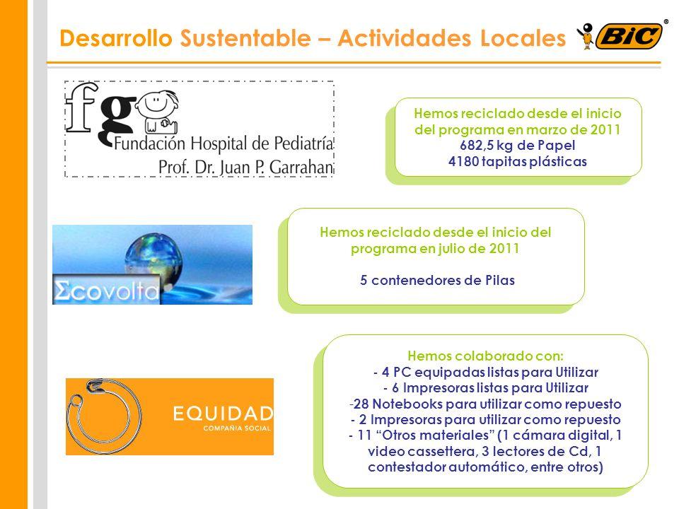 Desarrollo Sustentable – Actividades Locales