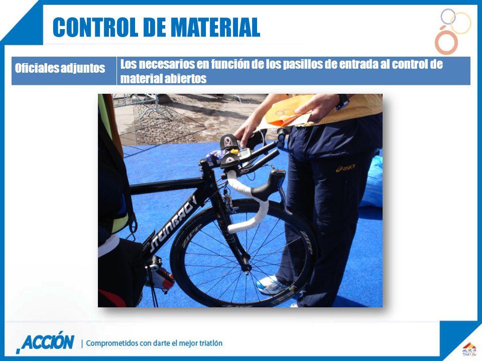 Control de material Oficiales adjuntos