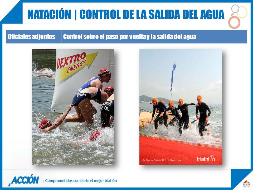 Natación | control de la salida del agua