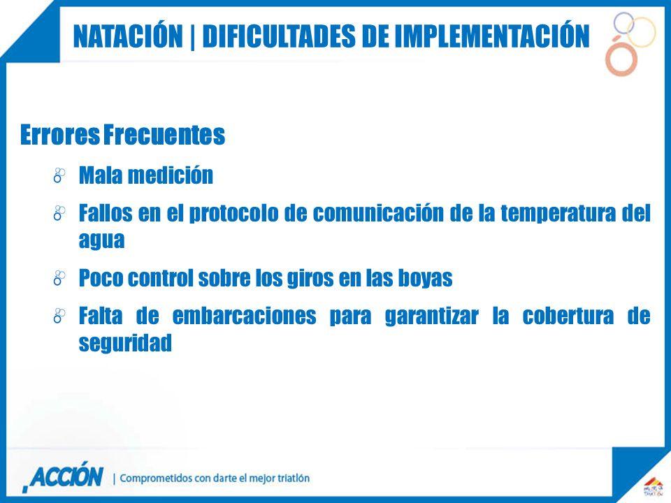 Natación | dificultades de implementación