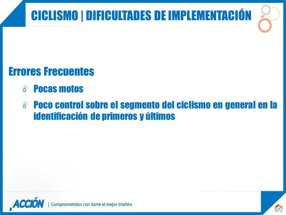 Ciclismo | dificultades de implementación