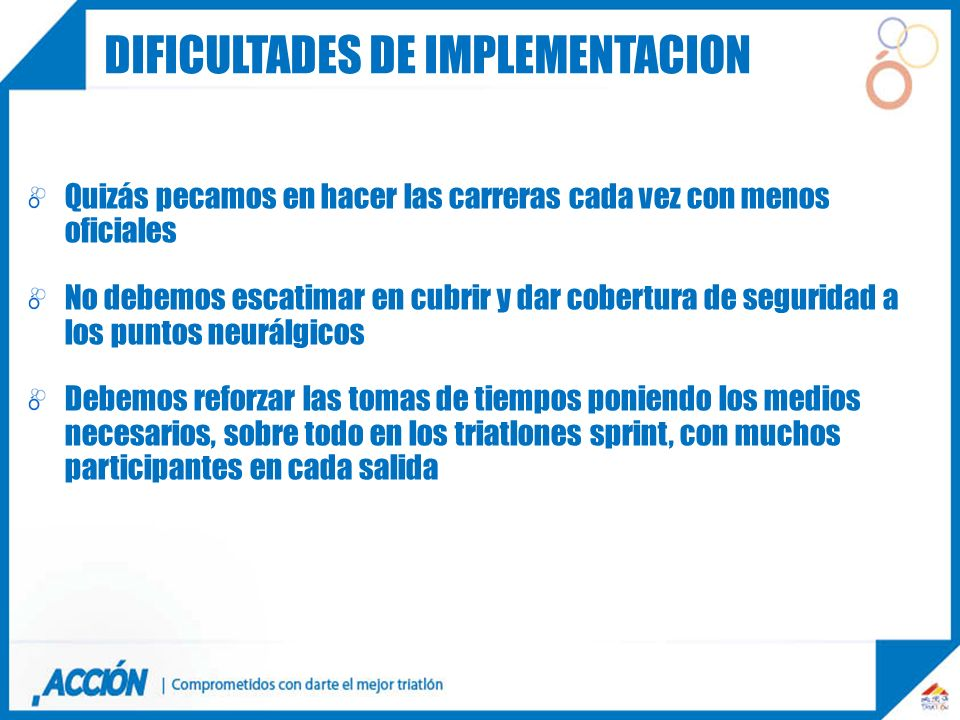 Dificultades de implementacion
