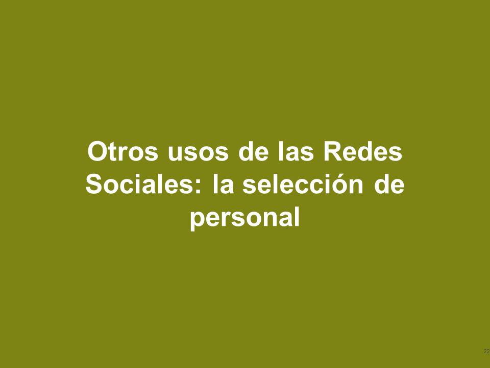 Otros usos de las Redes Sociales: la selección de personal